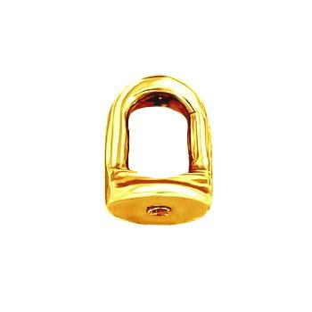Закрутка для пусеты под резьбу желтое золото