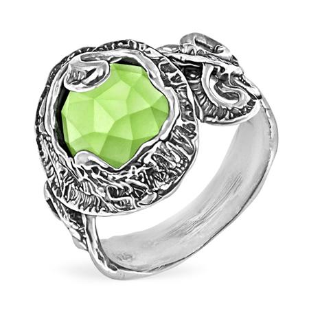 Серебряное кольцо Yaffo с зеленым кварцем SAR1463
