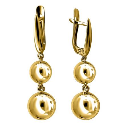 Золотые серьги Bubblse Gold 01С0310469