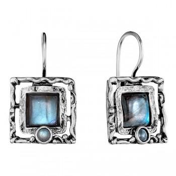 Серебряные серьги Deno с лабрадором 01E246/1LB