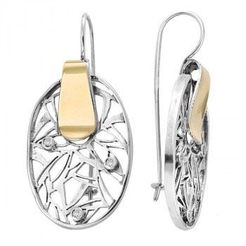 Серьги из серебра с золотом Deno MVE929GCZ