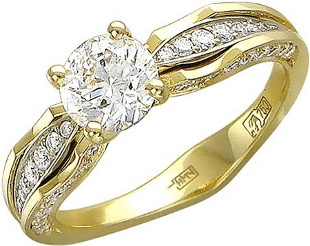 Эксклюзивное кольцо дорожка из золота с бриллиантами 01К686252