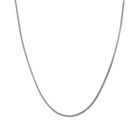 Серебряная цепь с родированием, плетение Панцирь, диаметр проволоки 0,45 мм HH000001264