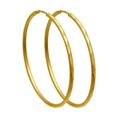 Серьги из желтого золота с алмазной гранью SOKOLOV 140006-2