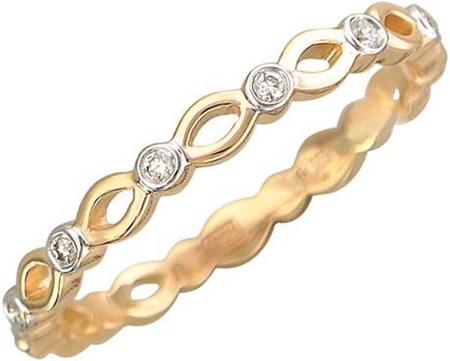Кольцо дорожка из золота с бриллиантами 01К617410