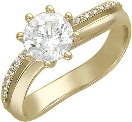 Кольцо дорожка из золота с фианитами 01К136360