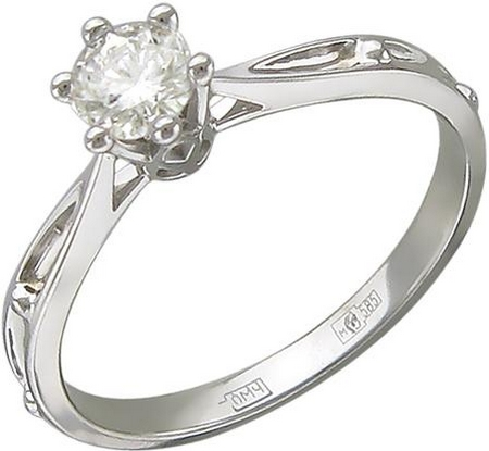 Кольцо из золота с бриллиантами 01К626885