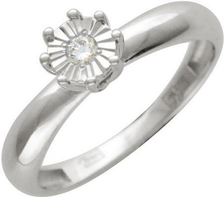 Кольцо из золота с бриллиантами и алмазной огранкой 01К624879