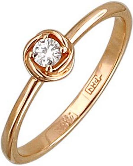 Кольцо из золота с бриллиантами в виде цветка 01К618168