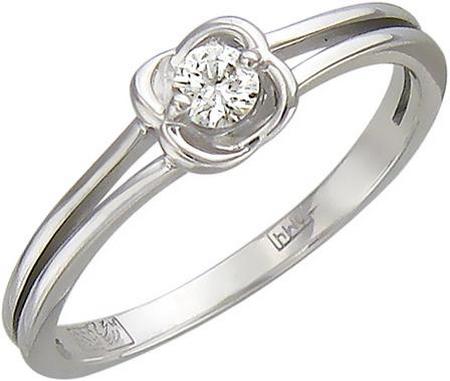 Кольцо из золота с бриллиантами в виде цветка 01К626809
