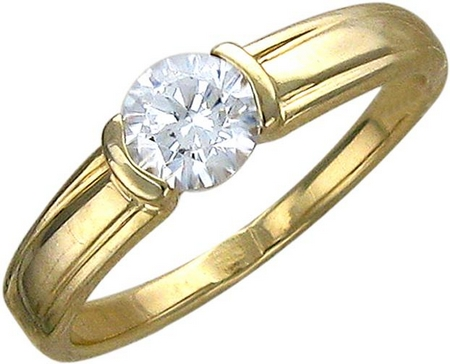 Кольцо из золота с фианитами 01К132986