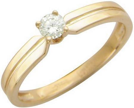 Кольцо из золота с фианитами 01К134406