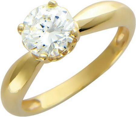 Кольцо из золота с фианитами 01К134544
