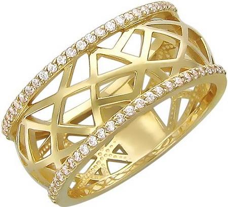 Кольцо из золота с фианитами 01К136403