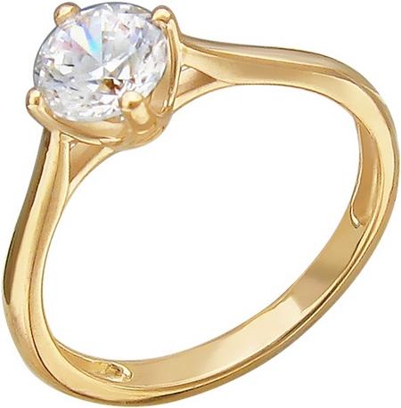 Кольцо из золота с фианитами 01К138529