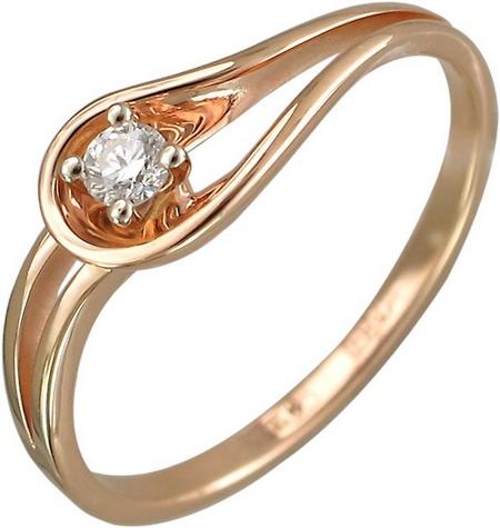 Кольцо в виде капли из золота с бриллиантами 01К668170