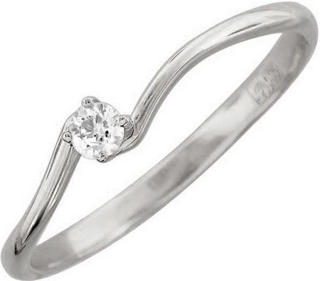 Кольцо волна из золота с бриллиантами 01К626724