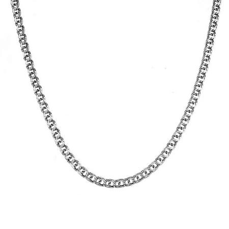 """Мужская цепочка из серебра с чернением, шириной 0,4 см, плетение """"Ручной бисмарк"""" M0000065444"""