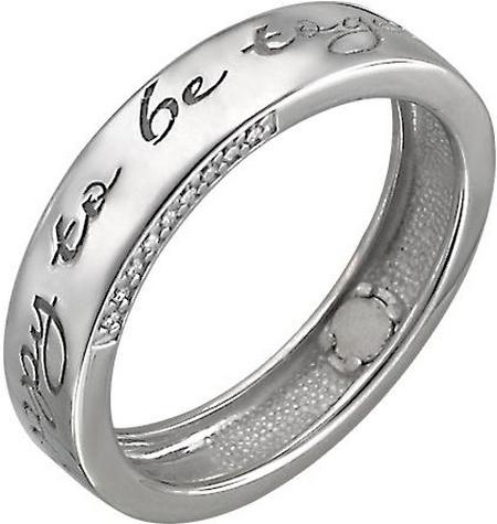 Обручальное кольцо из серебра с фианитами «Happy to be together» Р3О1501308Ч