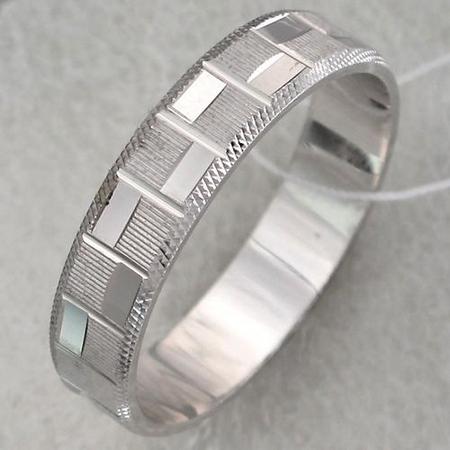 Обручальное кольцо из серебра Т4О750100302