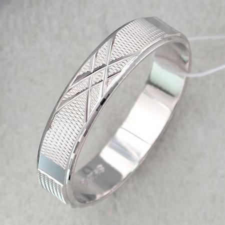 Обручальное кольцо из серебра Т4О750100403