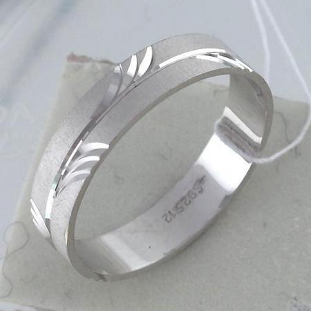 Обручальное кольцо из серебра Т4О750100779