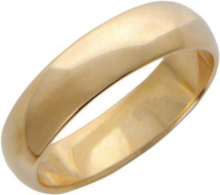 Обручальное кольцо из золота, ширина 5 мм 01О010014