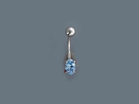 Пирсинг из серебра с фианитами Р3И2506063