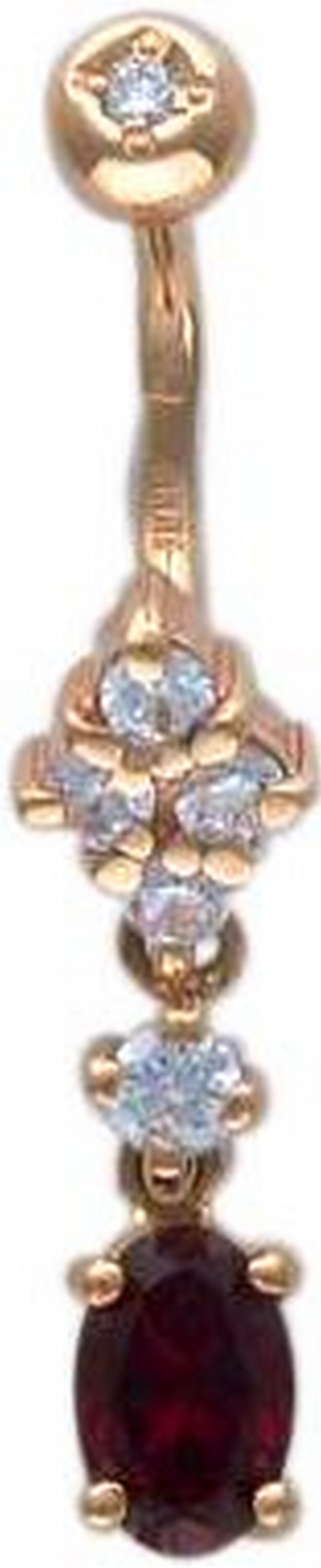 Пирсинг из золота с фианитами 01И210042