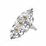 Серебряное кольцо Узор Утум K086-2