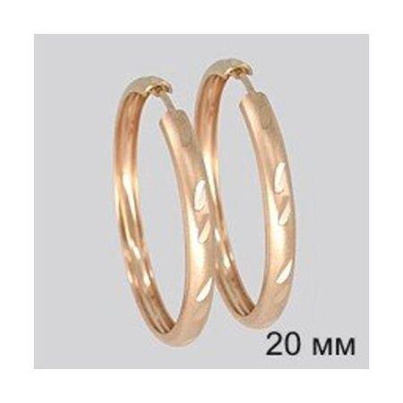 Серьги конго из золота с алмазной гранью SOKOLOV 140040