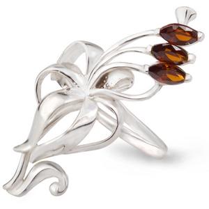 Серебряное кольцо Узор Утум с фианитами K076-2