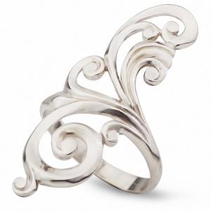 Серебряное кольцо Узор Утум K121