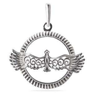 Серебряная подвеска-оберег Узор Утум ПO006