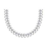 Колье из серебра с жемчугом и фианитами 94070373