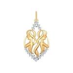Золотая подвеска «Знак зодиака Близнецы» 035125