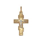 Крест из комбинированного золота 121250