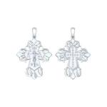 Крест из серебра с эмалью 94120133