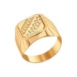 Печатка из золота с алмазной гранью 011245