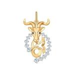 Золотая подвеска «Знак зодиака Козерог» 035132