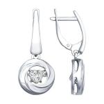 Серьги из серебра со Swarovski Zirconia 89020090