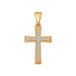 Крест из золота с фианитами 034877