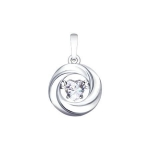 Подвеска из серебра со Swarovski Zirconia 89030029