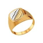 Печатка из золота с алмазной гранью 012782