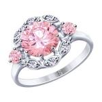 Кольцо из серебра с фианитами 94012951