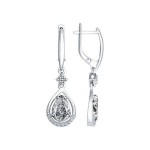 Серьги из серебра с фианитами 94022342
