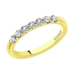 Кольцо из желтого золота с бриллиантами 1113260-01