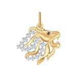 Золотая подвеска «Знак зодиака Лев» 035127