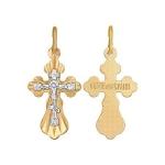 Подвеска из комбинированного золота с алмазной гранью 121206-9