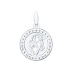Серебряная подвеска «Знак зодиака Козерог» 94031392